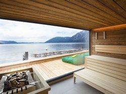 Panorama sauna in the SeeSpa