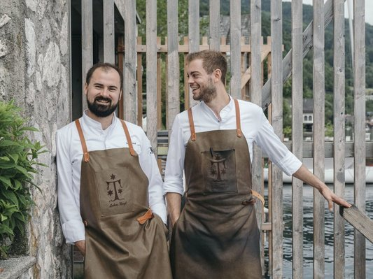 Executive Chef Lukas Nagl mit Stefan Brunnmayr