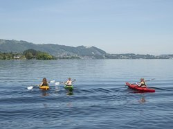 Kayak on the Traunsee