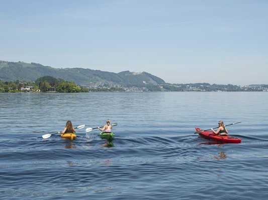 Kayaking on the Traunsee