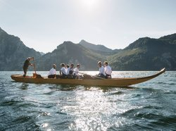 Cooks on the boat on the Traunsee