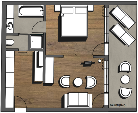 Layout Traunsee Suite
