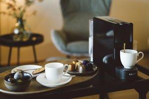 zwischendurch eine Tasse Kaffee genießen