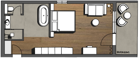 Salzkammergut Suite Grundriss