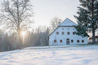 Bauernhaus im Dörfl im Winter
