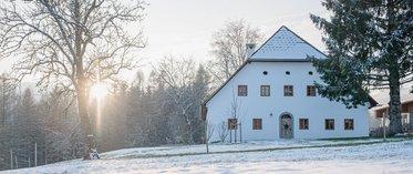 Bauernhaus Dörfl im Schnee