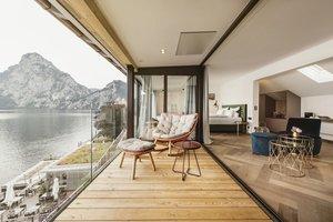 Aussicht und Balkon der Panorama Suite Traunstein