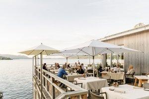 Terrasse im Restaurant Bootshaus