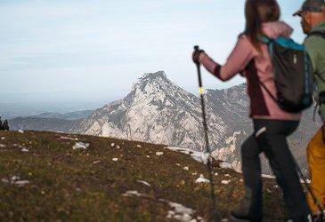 Wanderung Feuerkogel mit Blick auf den Traunstein, ©STMG