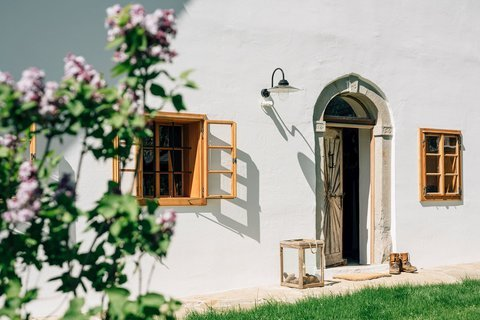 View of the front door