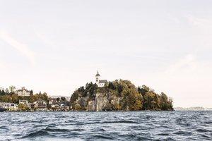 Kalvarienberg in Traunkirchen im Herbst