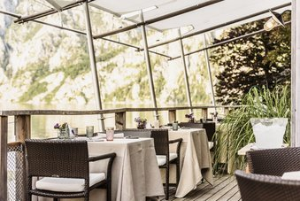Terrasse im Gourmetrestaurant Bootshaus